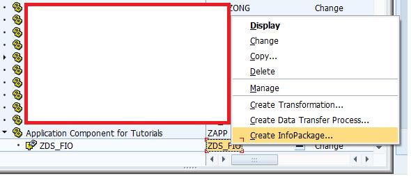 Creating an InfoPackage