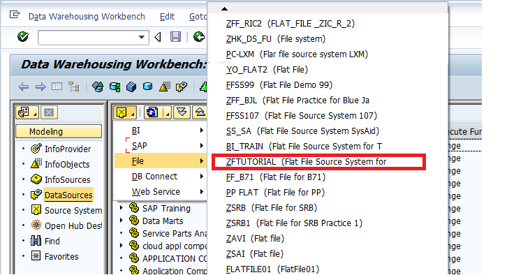Selecting the Source System
