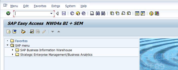 SAP Easy Access Menu