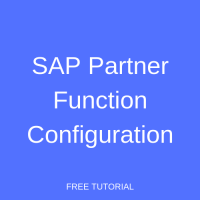 SAP Partner Function Configuration