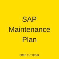 SAP Maintenance Plan