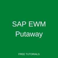 SAP EWM Putaway