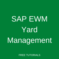 SAP EWM Yard Management
