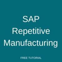 SAP Repetitive Manufacturing